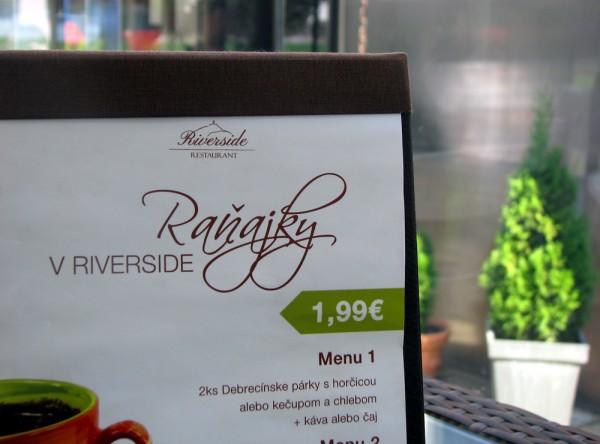 Raňajky v Riverside